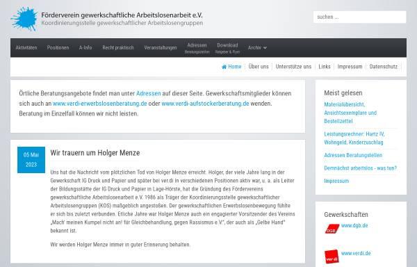 Vorschau von www.erwerbslos.de, Förderverein gewerkschaftliche Arbeitslosenarbeit e.V.