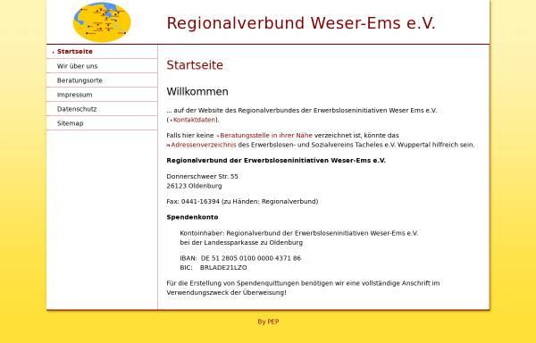 Vorschau von www.erwerbslosenberatung-weser-ems.de, Regionalverbund Erwerbsloseninitiativen Weser-Ems e.V.