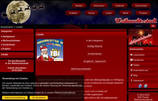 Vorschau von www.weihnachtsstadt.de, Weihnachtsstadt - Lieder