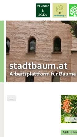 Vorschau der mobilen Webseite www.stadtbaum.at, Arbeitsplattform für Bäume im Stadtbereich [stadtbaum.at]