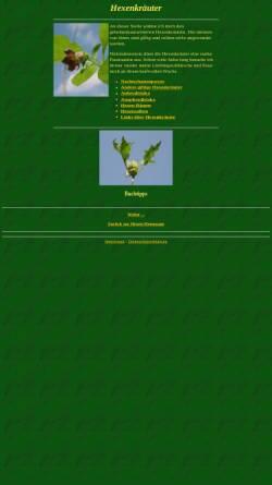 Vorschau der mobilen Webseite hexe.org, Hexenkräuter