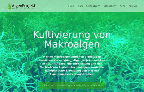 Vorschau von www.algenfarm.de, Sylter Algenfarm