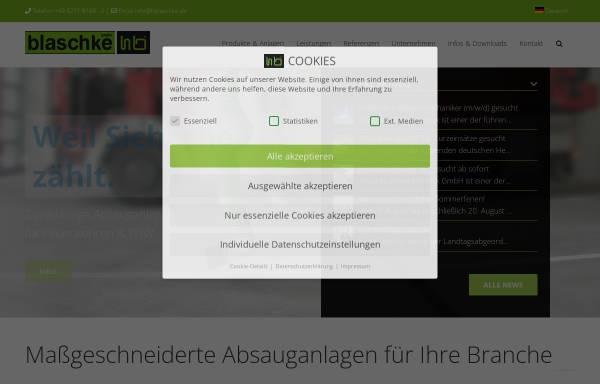 Vorschau von www.hb-umwelttechnik.de, Blaschke Umwelttechnik e. Kfm.