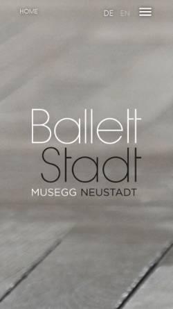 Vorschau der mobilen Webseite www.ballettluzern.ch, Dance Art Studio Ballettschule Luzern