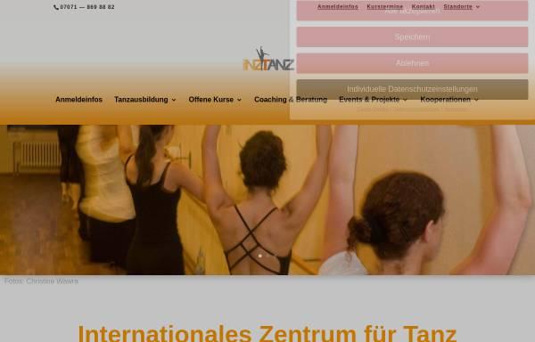 Vorschau von inztanz.de, InzTanz, Internationales Zentrum für Tanz
