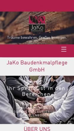 Vorschau der mobilen Webseite jako-baudenkmalpflege.de, Jako Baudenkmalpflege GmbH