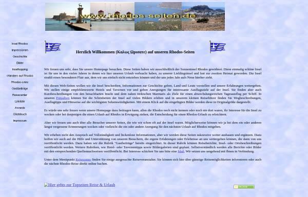 Vorschau von www.rhodos-seiten.de, Die Rhodos-Seiten