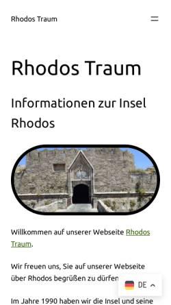 Vorschau der mobilen Webseite www.rhodos-traum.de, Rhodos-Traum