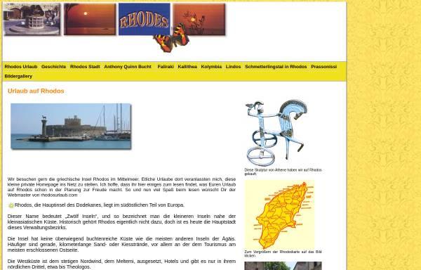 Vorschau von www.rhodosurlaub.com, Urlaub auf Rhodos