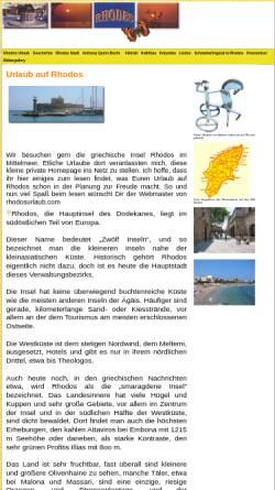 Vorschau der mobilen Webseite www.rhodosurlaub.com, Urlaub auf Rhodos
