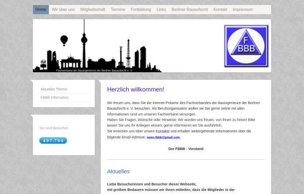 Vorschau von www.fbbb.de, Fachverband der Bauingenieure der Berliner Bauaufsicht e.V. (FBBB)