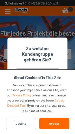 Vorschau der mobilen Webseite www.kuechencontainer.de, Boels Verleih GmbH