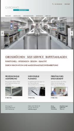 Vorschau der mobilen Webseite www.chromag.ch, Chromag AG