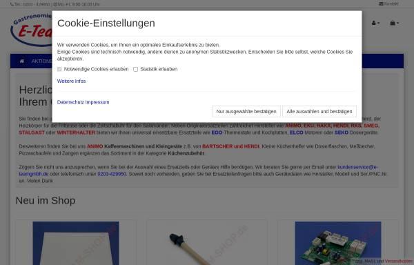 Vorschau von www.e-team-shop.de, E-Team GmbH
