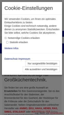 Vorschau der mobilen Webseite www.e-team-shop.de, E-Team GmbH