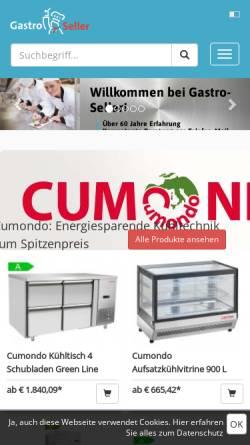 Vorschau der mobilen Webseite www.gastro-seller.de, Gastro Seller - Christian Fieback