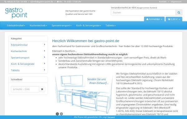 Vorschau von gastro-point.de, Gastronomie - Fachhandel Luboch