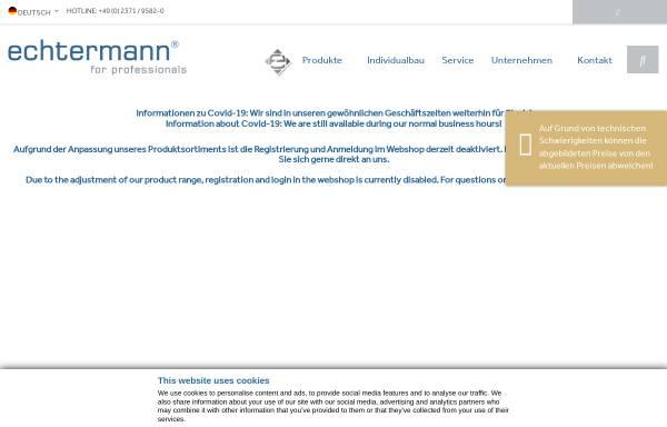 Vorschau von echtermann.de, Gebr. Echtermann GmbH & Co. KG