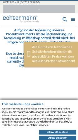 Vorschau der mobilen Webseite echtermann.de, Gebr. Echtermann GmbH & Co. KG