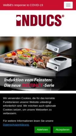 Vorschau der mobilen Webseite www.inducs.ch, Inducs AG