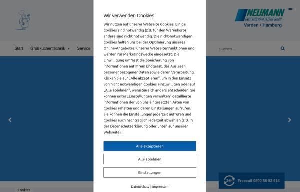 Vorschau von www.neumann-online.de, Neumann Großküchensysteme GmbH