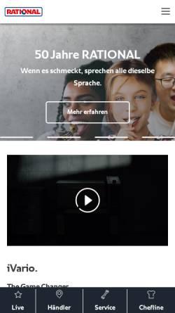 Vorschau der mobilen Webseite www.rational-online.com, Rational AG