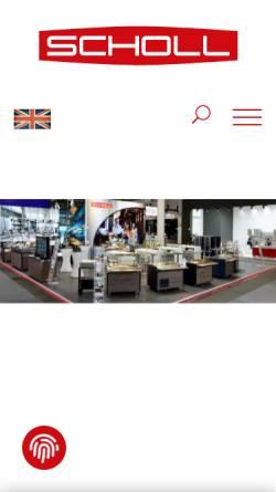 Vorschau der mobilen Webseite www.scholl-gastro.de, Scholl Apparatebau GmbH & Co.
