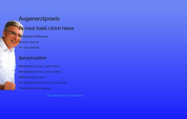 Vorschau von www.augenarzt-dr-heine.de, Dr. med. habil. Ulrich Heine Augenarzt