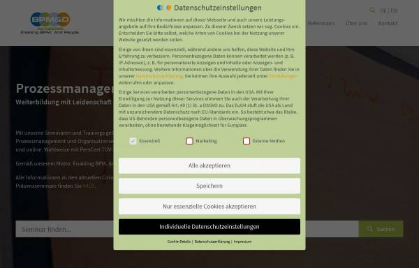 Vorschau von www.bpm-akademie.de, BPM Akademie - Weiterbildung für Prozessmanagement