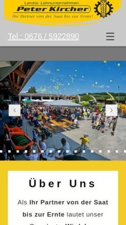 Vorschau der mobilen Webseite www.peter-kircher.at, Lohnunternehmen Peter Kircher