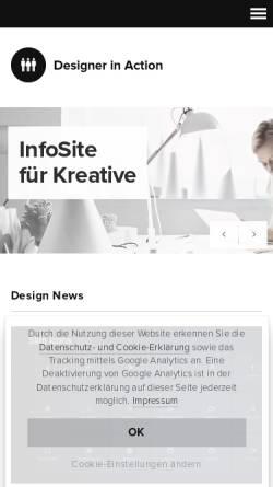 Vorschau der mobilen Webseite www.designerinaction.de, Designer in Action