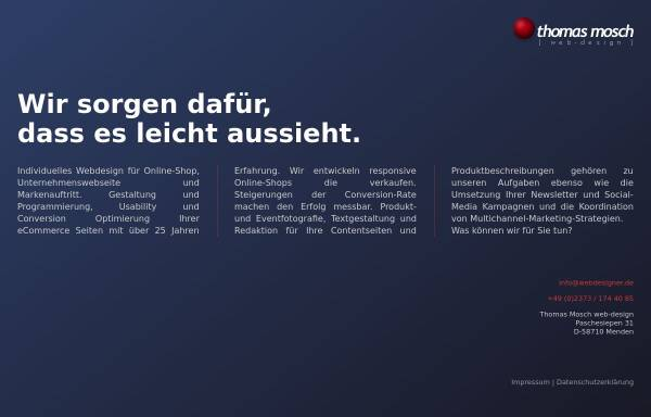 Vorschau von www.webdesigner.de, Thomas Mosch