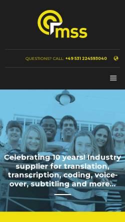 Vorschau der mobilen Webseite www.meinschreibservice.de, MeinSchreibservice.de, Talentpool Solutions