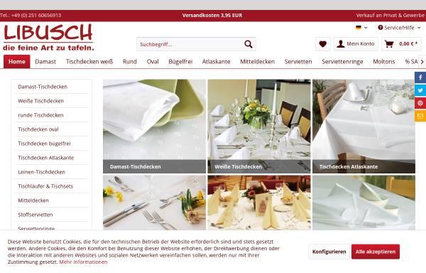 Vorschau von tischdecken-shop.libusch.de, Tischdecken-Shop Libusch