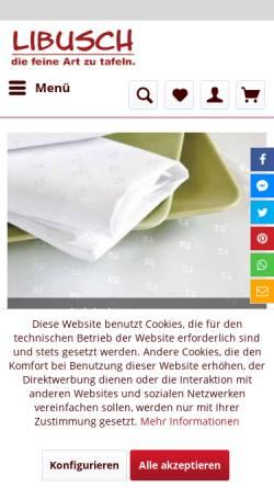 Vorschau der mobilen Webseite tischdecken-shop.libusch.de, Tischdecken-Shop Libusch