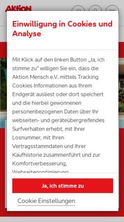 Vorschau der mobilen Webseite www.aktion-mensch.de, Aktion Mensch