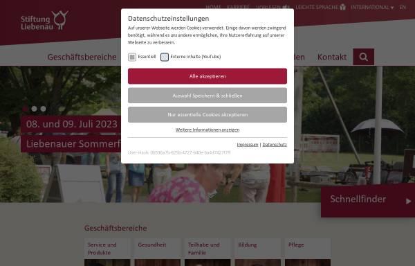Vorschau von www.stiftung-liebenau.de, Stiftung Liebenau