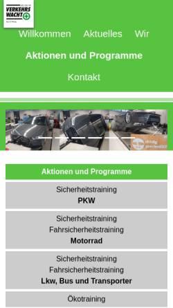 Vorschau der mobilen Webseite www.verkehrswacht-rottweil.de, Kreisverkehrswacht Rottweil e. V.