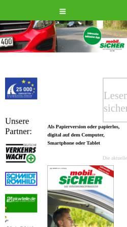 Vorschau der mobilen Webseite www.mobilundsicher.de, Mobil und sicher