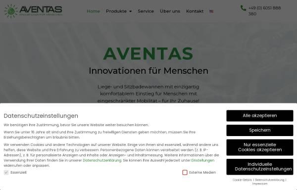 Vorschau von www.aventas-care.de, Aventas GmbH