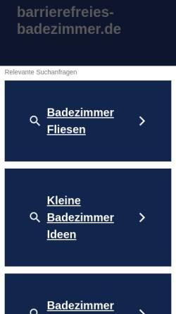 Vorschau der mobilen Webseite www.barrierefreies-badezimmer.de, Barrierefreies Badezimmer