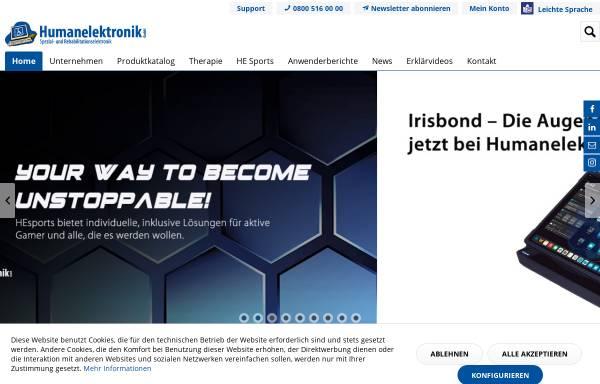 Vorschau von humanelektronik.de, Humanelektronik Spezial und Rehabilitationselektronik Stefan Schaaf
