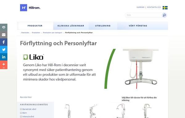 Vorschau von www.liko.se, Liko - Lifts with Care