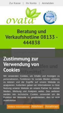 Vorschau der mobilen Webseite www.ovata.de, ovata - Joachim Zombori