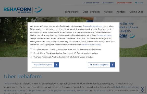 Vorschau von rehaform.de, Reha Team Berolina