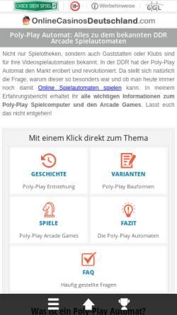 Vorschau der mobilen Webseite www.polyplay.de, Poly-Play