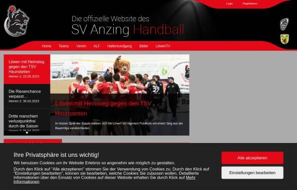 Vorschau von www.handball-anzing.de, Handball Anzing