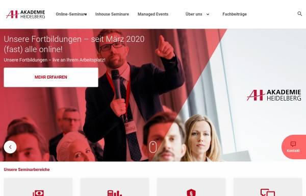 Vorschau von www.akademie-heidelberg.de, AH Akademie für Fortbildung Heidelberg GmbH