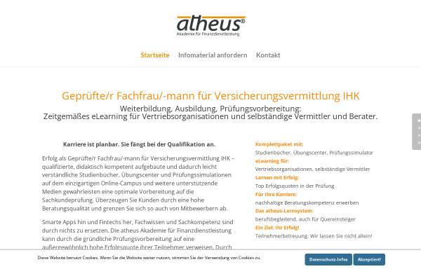 Vorschau von www.atheus-akademie.de, Atheus - Akademie für Finanzdienstleistung GbR