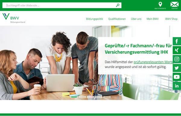 Vorschau von www.bwv.de, Berufsbildungswerk der Deutschen Versicherungswirtschaft (BWV) e.V.